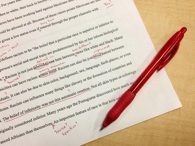 英文の赤ペン添削