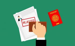 入国審査で拒否された人の書類に押されるスタンプ