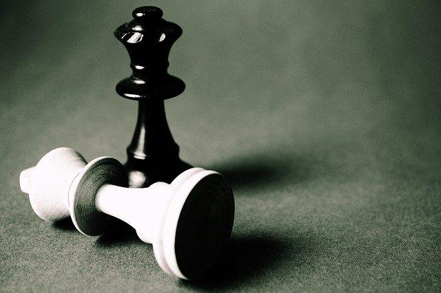 チェスの白い駒と黒い駒