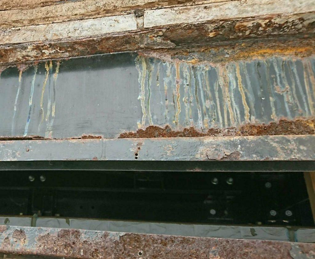 ダイワハウス 外壁の中の腐食した鉄骨
